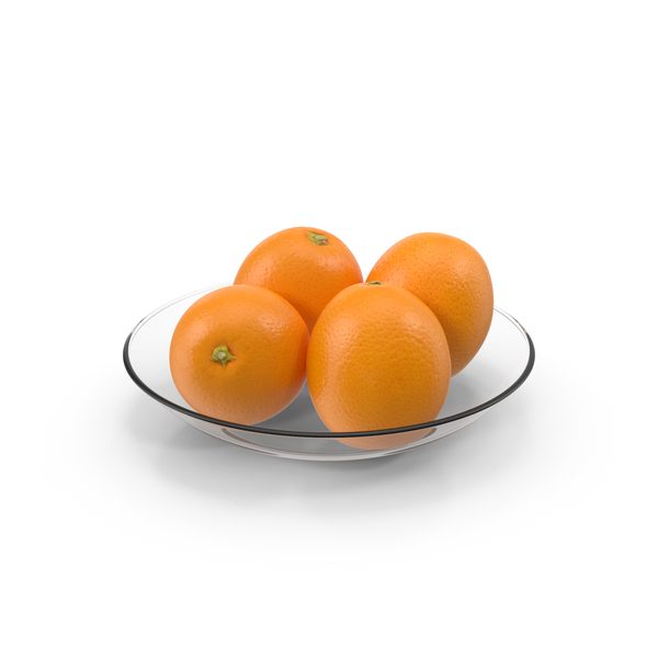 Plate glass with oranges PNG & PSD Images