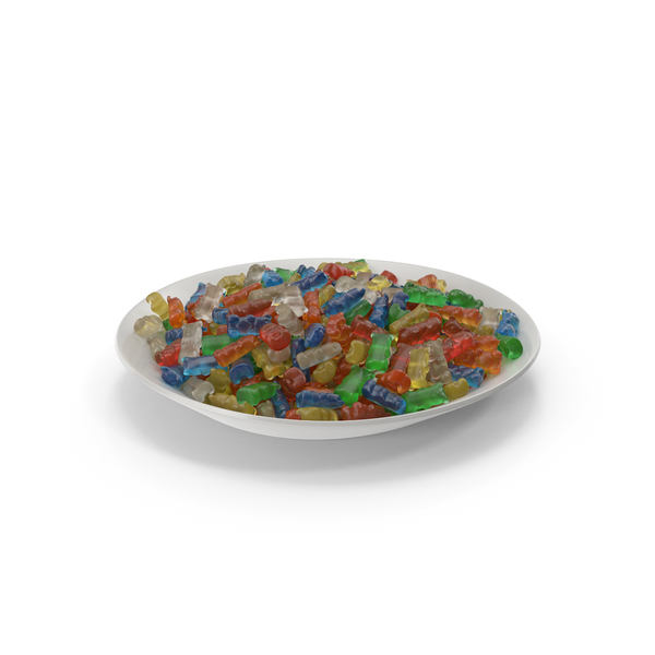 Plate with Gummy Bears PNG & PSD Images
