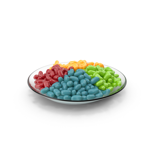Plate with Jelly Beans PNG & PSD Images