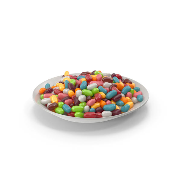 Plate with Jellybeans PNG & PSD Images