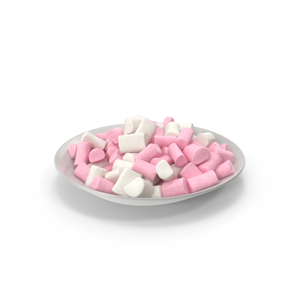 Plate with Marshmallows PNG & PSD Images