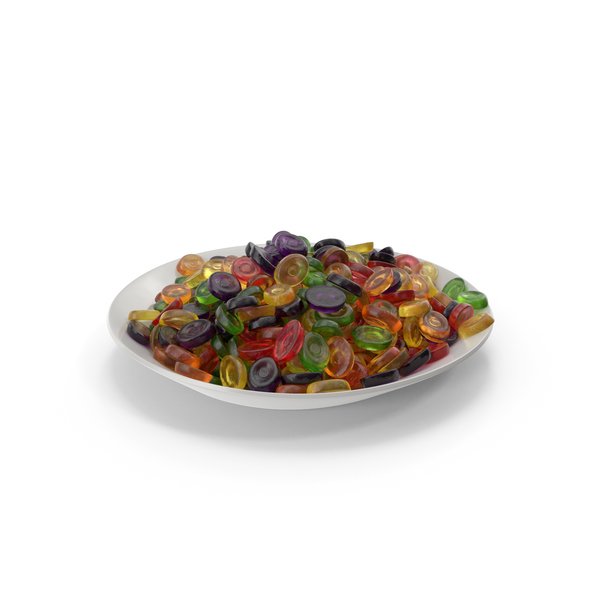 Plate With Oval Hard Candy PNG & PSD Images