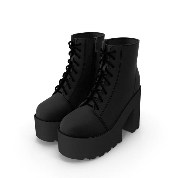 Shoes: Platform Ankle Boots PNG & PSD Images