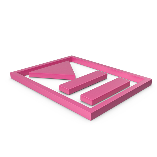 Logo: Play Pause Button Pink PNG & PSD Images