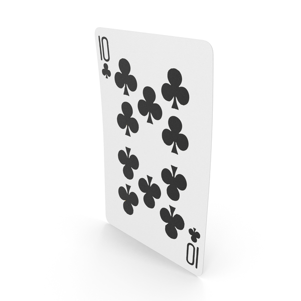 Playing Cards 10 Clubs PNG & PSD Images