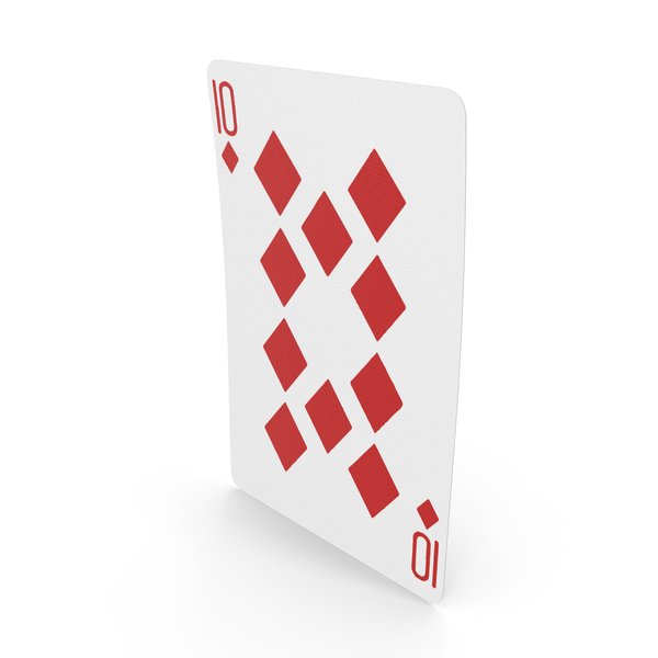 Playing Cards 10 of Diamonds PNG & PSD Images