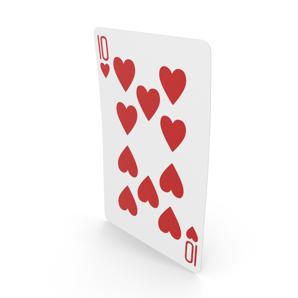 Playing Cards 10 of Hearts PNG & PSD Images