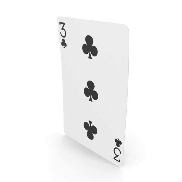 Playing Cards 3 Clubs PNG & PSD Images