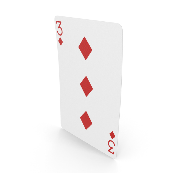 Playing Cards 3 of Diamonds PNG & PSD Images