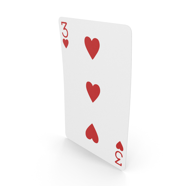 Playing Cards 3 of Hearts PNG & PSD Images