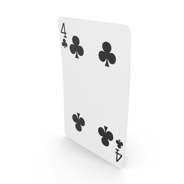 Playing Cards 4 Clubs PNG & PSD Images