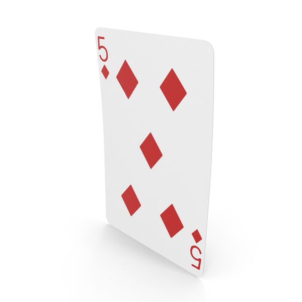 Playing Cards 5 of Diamonds PNG & PSD Images