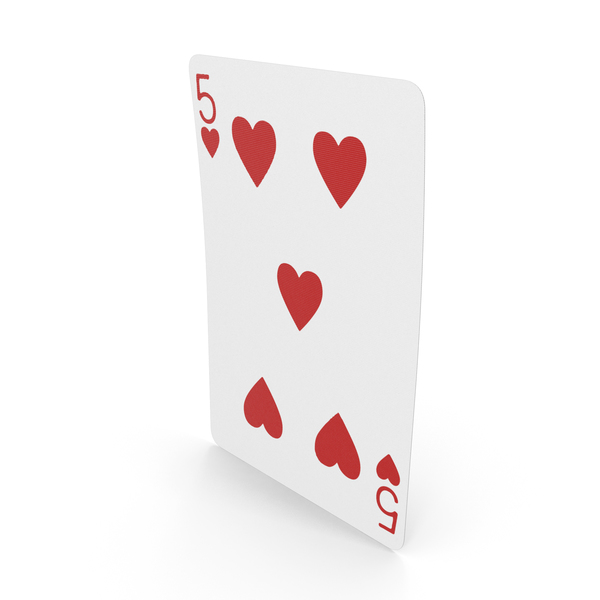 Playing Cards 5 of Hearts PNG & PSD Images