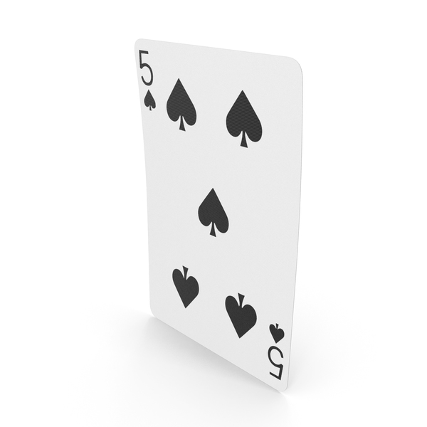Playing Cards 5 of Spades PNG & PSD Images