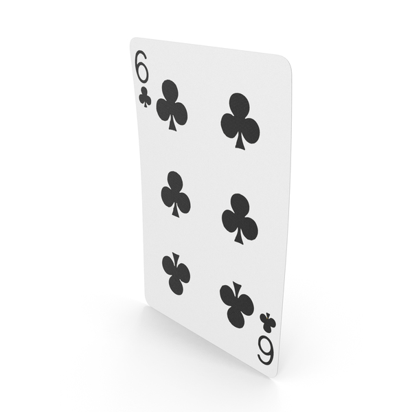 Playing Cards 6 of Clubs PNG & PSD Images