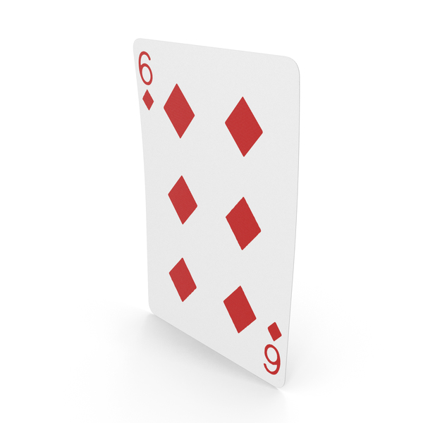 Playing Cards 6 of Diamonds PNG & PSD Images