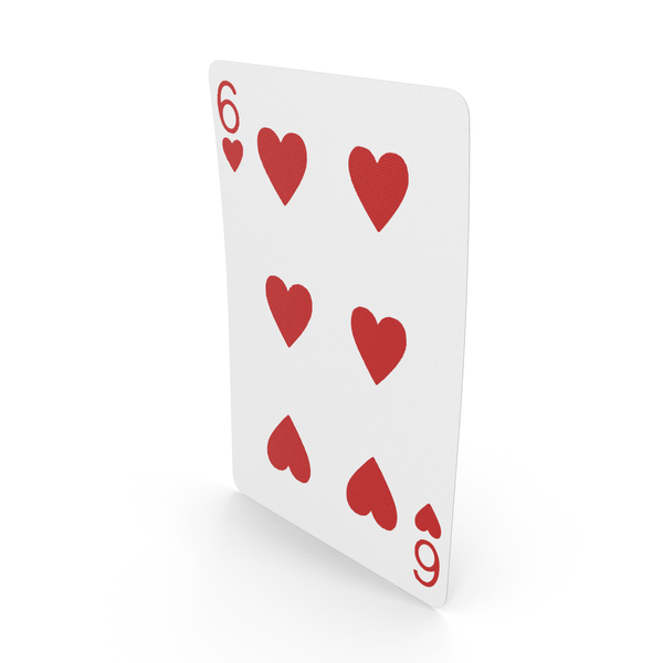 Playing Cards 6 of Hearts PNG & PSD Images