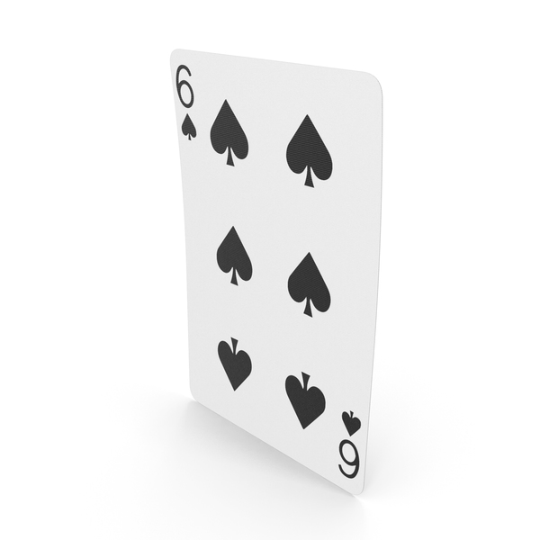 Playing Cards 6 of Spades PNG & PSD Images