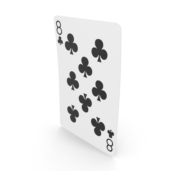 Playing Cards 8 Clubs PNG & PSD Images