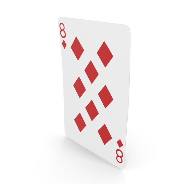 Playing Cards 8 of Diamonds PNG & PSD Images