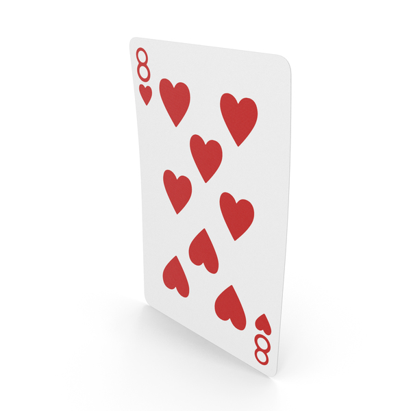 Playing Cards 8 of Hearts PNG & PSD Images