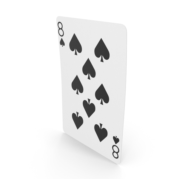 Playing Cards 8 of Spades PNG & PSD Images