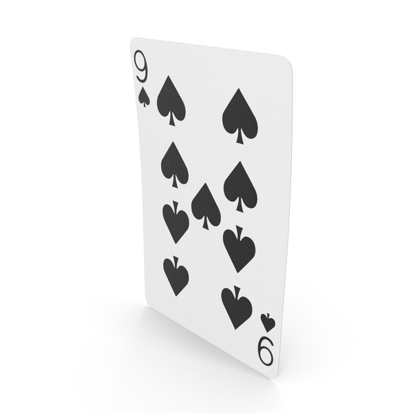 Playing Cards 9 of Spades PNG & PSD Images