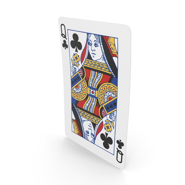 Playing Cards Queen of Clubs PNG & PSD Images
