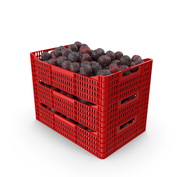 Plums in Plastic Crates PNG & PSD Images