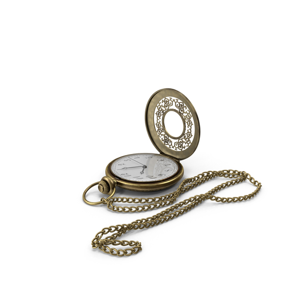 Pocket Watch and Chain PNG & PSD Images