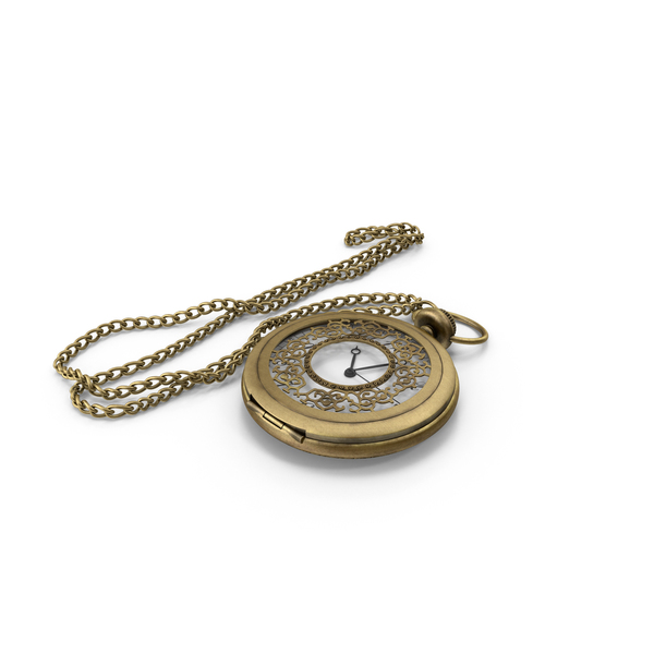 Pocket Watch and Chain Object
