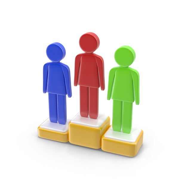 Podium with Stickmen PNG & PSD Images