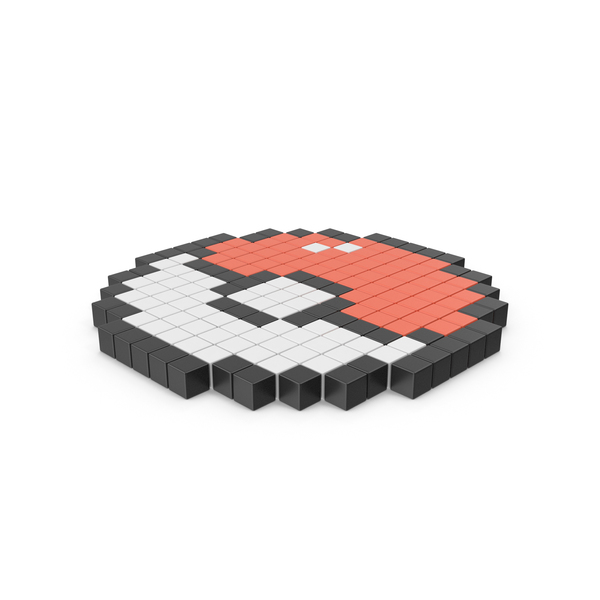 Pokeball Pixelated Icon PNG & PSD Images