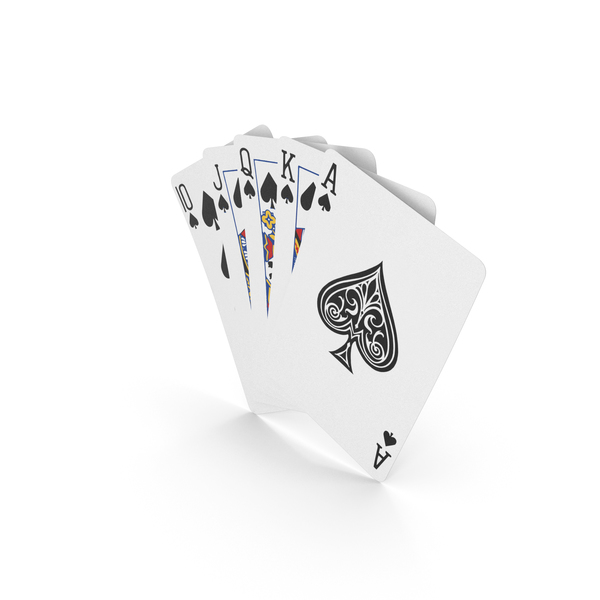 Playing Cards: Poker Hand Royal Flush PNG & PSD Images