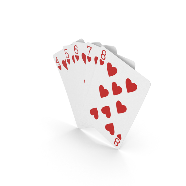 Playing Cards: Poker Hand Straight Flush PNG & PSD Images