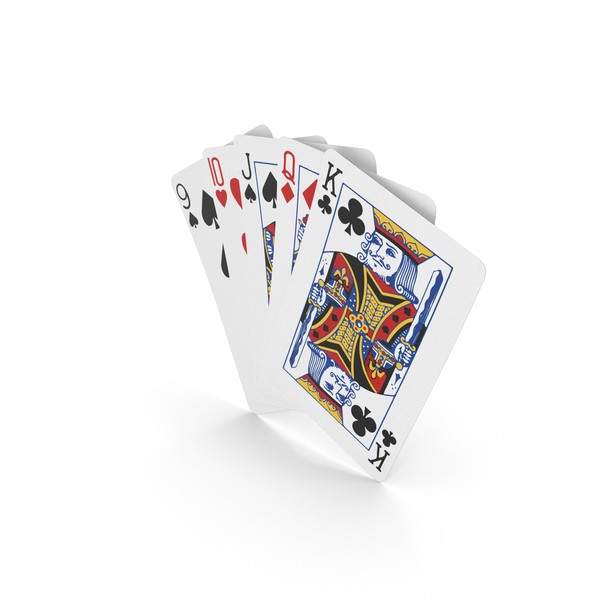 Playing Cards: Poker Hand Straight PNG & PSD Images