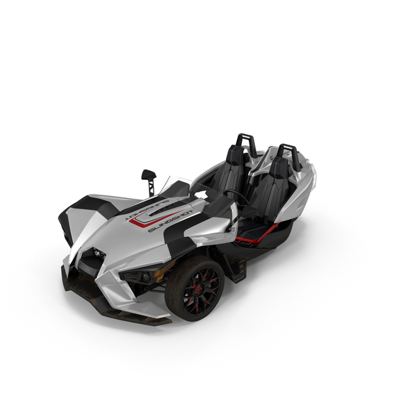 Chopper: Polaris Slingshot Trike White PNG & PSD Images