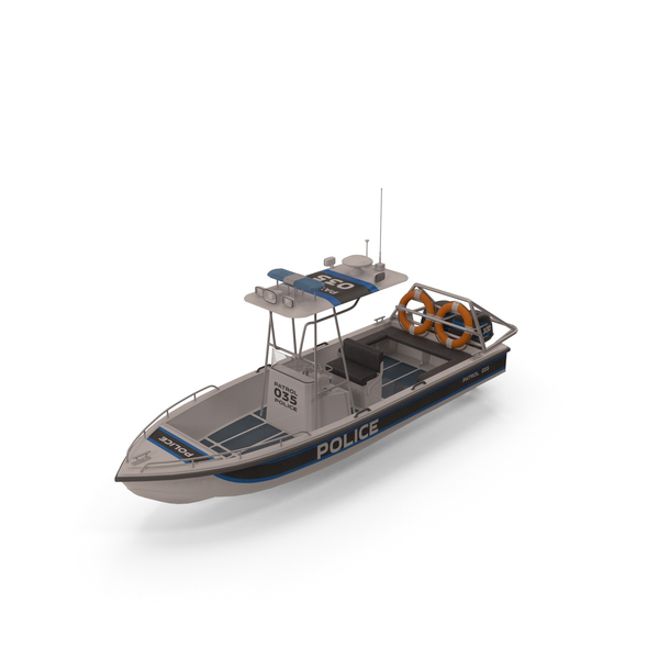 Police Patrol Motor Boat PNG & PSD Images