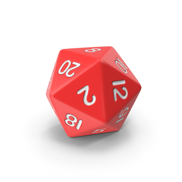 Dice: Polyhedral 20 Sided Die PNG & PSD Images