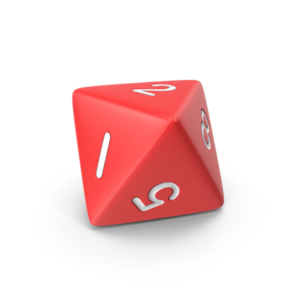 Polyhedral 8 Sided Dice PNG & PSD Images