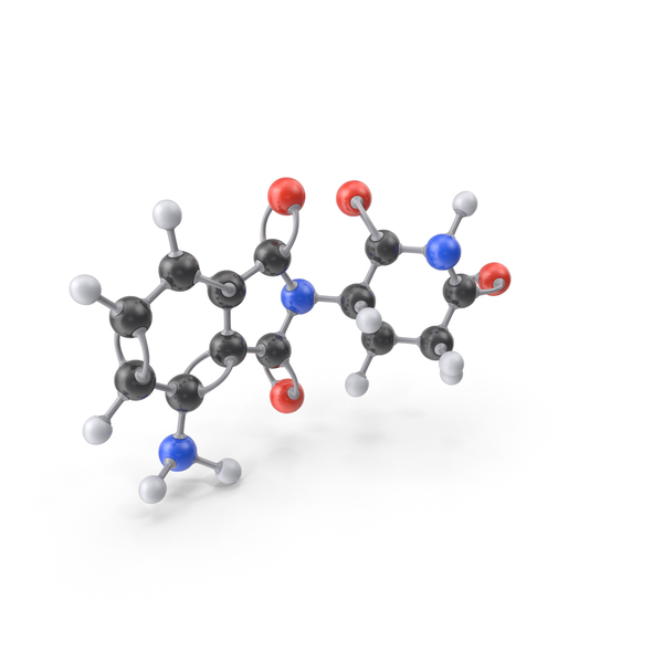 Pomalidomide Molecule PNG & PSD Images