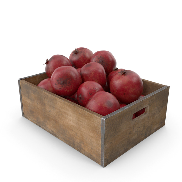 Pomegranate Fruit Crate PNG & PSD Images