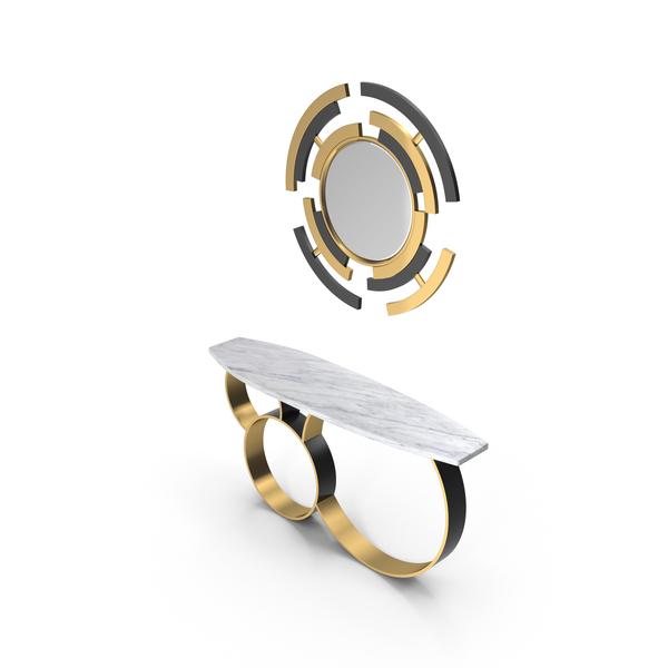 Pont Des Arts Designer Console & Mirror PNG & PSD Images