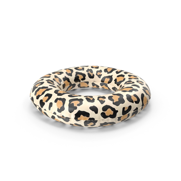 Toy: Pool Tube with Leopard Print PNG & PSD Images