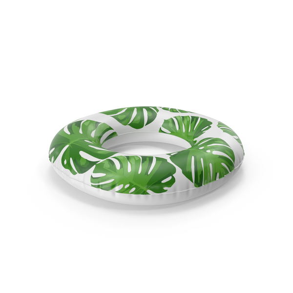 Toy: Pool Tube with Tropical Leaves PNG & PSD Images
