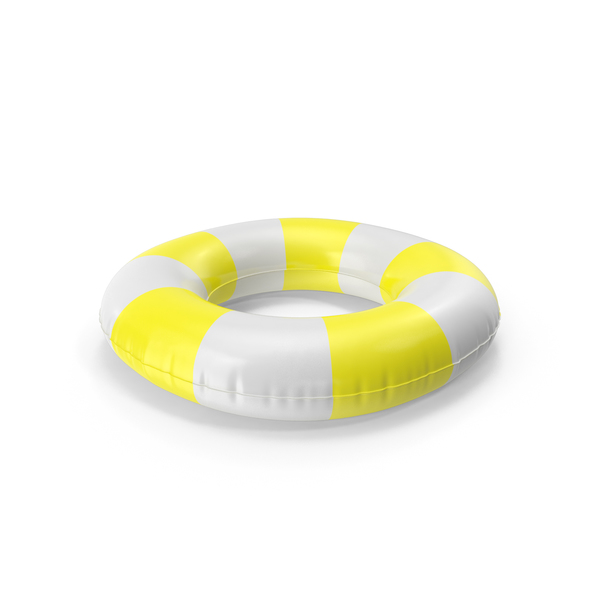 Raft: Pool Tubes with Yellow Striped Print PNG & PSD Images