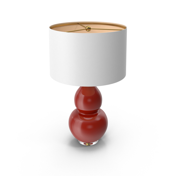 Pop Color Modern Table Lamp Oxblood Red PNG & PSD Images