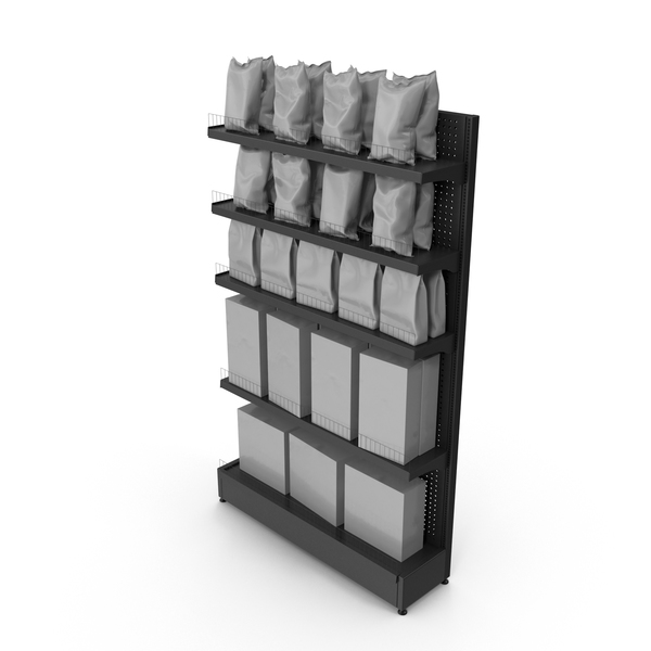 Supermarket: Popcorn Shelving Grey PNG & PSD Images