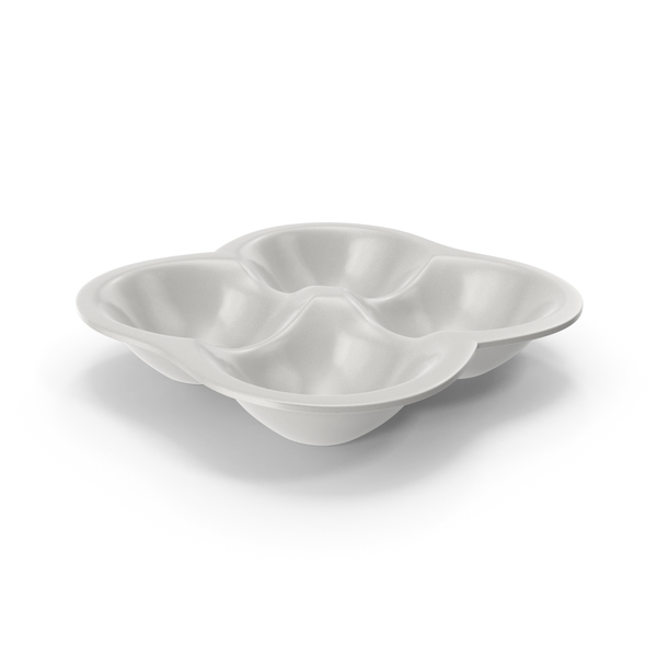 Porcelain 4 Compartment Round Bowl PNG & PSD Images