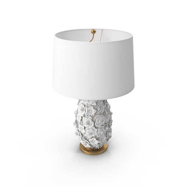 Porcelain Flower Table Lamp PNG & PSD Images